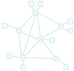 Interconnecting packet-switching networks